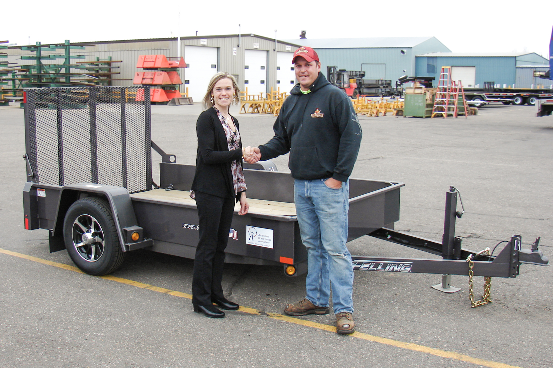 Pictured above is Brenda Jennissen, Felling Trailers' President/CEO and Patrick Stepan - FT-3 trailer auction results