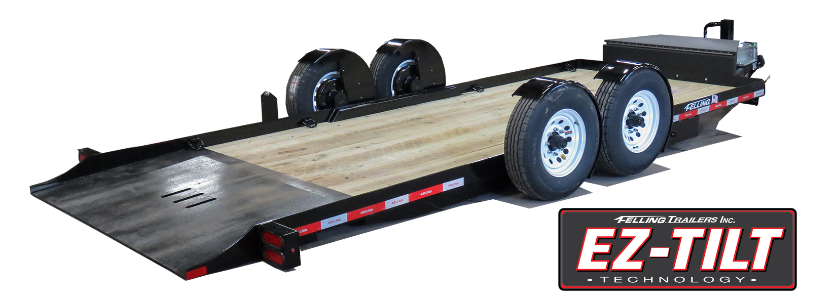 FT-12 EZ Tilt ground level loading tilt trailer
