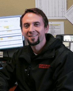 Kyle Wald Felling Trailers' employee & Litchfield Fire Department member