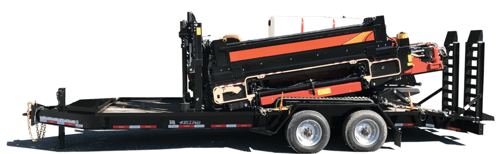 Drill Drop Deck Trailer - Utility Telecom Trailers from Felling