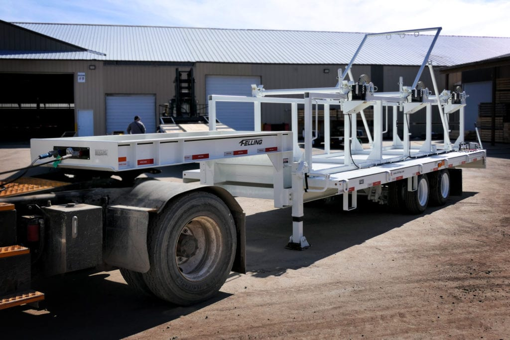 Felling FT-40-2 Triple Reel Trailer - Utility Telecom Service